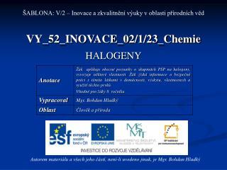 VY_52_INOVACE_02/1/23_Chemie