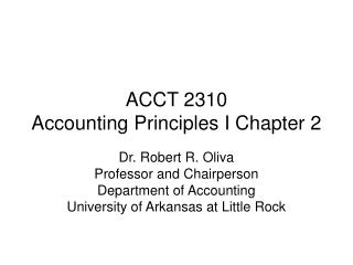 ACCT 2310                    Accounting Principles I Chapter 2