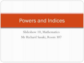 Powers and Indices
