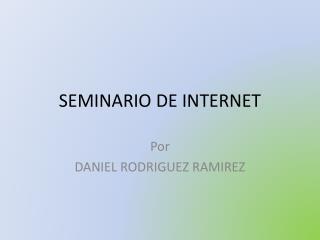 SEMINARIO DE INTERNET