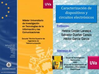 M�ster Universitario de Investigaci�n en Tecnolog�as de la Informaci�n y las Comunicaciones