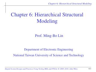 Chapter 6: Hierarchical Structural Modeling