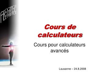 Cours de calculateurs