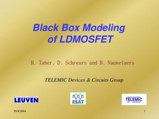 Black Box Modeling  of LDMOSFET