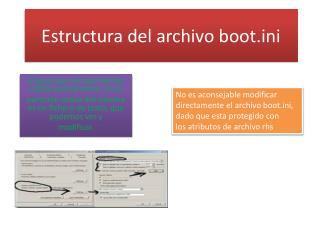 Estructura del archivo booti