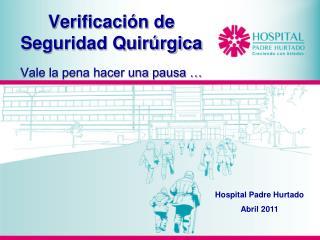 Verificación de Seguridad Quirúrgica