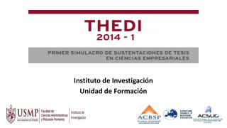 Instituto de Investigación Unidad de Formación