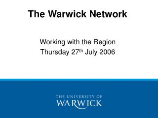 The Warwick Network