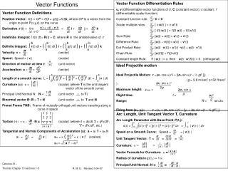 Vector Functions