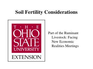 Soil Fertility Considerations