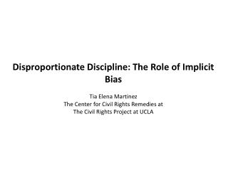 Defining implicit bias