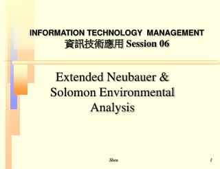Extended Neubauer & Solomon Environmental Analysis