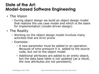 State of the Art:  Model-based Software Engineering