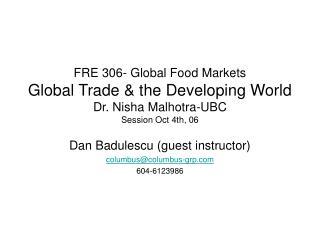 Dan Badulescu (guest instructor) columbus@columbus-grp 604-6123986