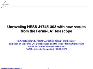 Unraveling HESS J1745-303 with new results  from the Fermi-LAT telescope