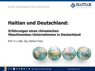 Haitian und Deutschland: