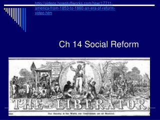 Ch 14 Social Reform