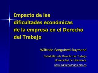 Impacto de las dificultades económicas de la empresa en el Derecho del Trabajo