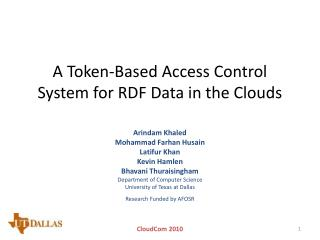A Token-Based Access Control System for RDF Data in the Clouds