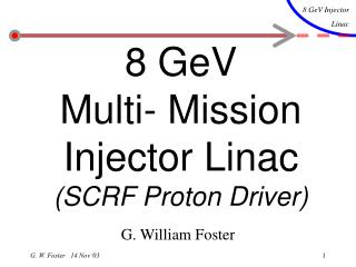 8 GeV  Multi- Mission Injector Linac (SCRF Proton Driver)