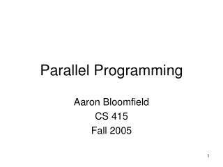 Parallel Programming