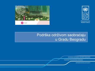 Podrška održivom saobraćaju  u Gradu Beogradu