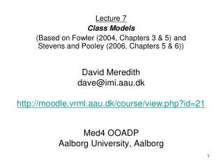 Med4 OOADP Aalborg University, Aalborg