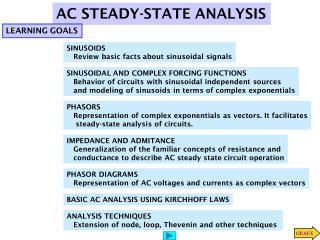AC STEADY-STATE ANALYSIS