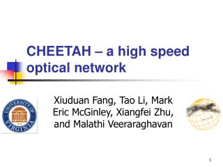 CHEETAH – a high speed optical network