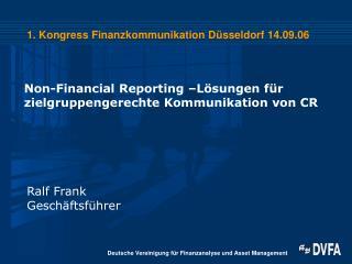 1. Kongress Finanzkommunikation Düsseldorf 14.09.06