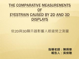 The Comparative Measurements of Eyestrain Caused by 2D and 3D Displays