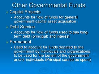 Other Governmental Funds