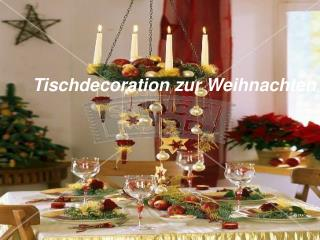 Festliche Tischdekoration zu Weihnachten in Österreich