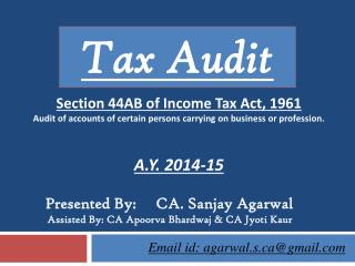 Section 44AB of Income Tax Act, 1961