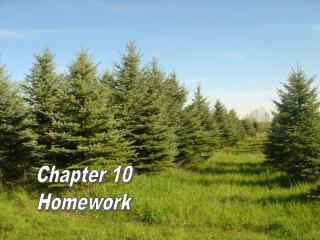 Chapter 10 Homework