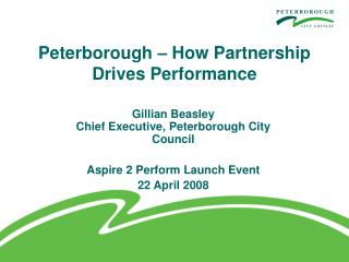 Peterborough – How Partnership Drives Performance