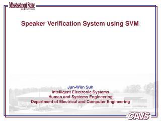 Speaker Verification System using SVM