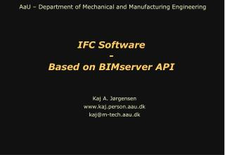 IFC Software - Based on BIMserver API
