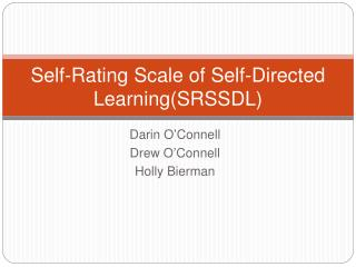 Self-Rating Scale of Self-Directed LearningSRSSDL