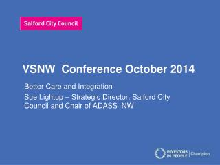 VSNW  Conference October 2014