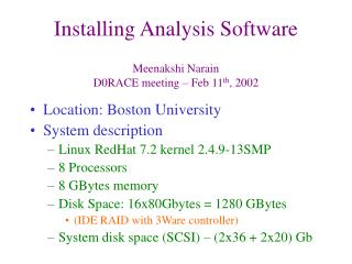 Installing Analysis Software