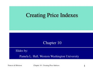 Creating Price Indexes