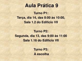 Aula Prática 9