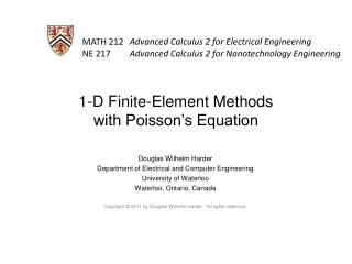 1-D Finite-Element Methods with Poisson's Equation