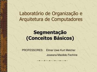 Laboratório de Organização e Arquitetura de Computadores