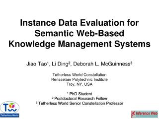 Instance Data Evaluation for Semantic Web-Based  Knowledge Management Systems