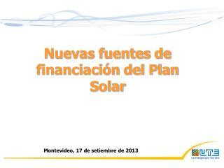 Nuevas fuentes de financiación del Plan Solar