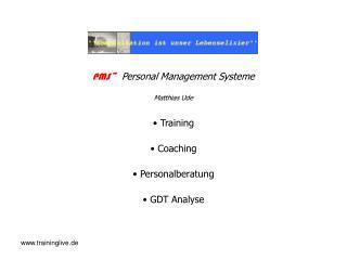 PMS~  Personal Management Systeme Matthias Ude