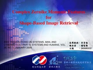 Complex Zernike Moments Features for Shape-Based Image Retrieval