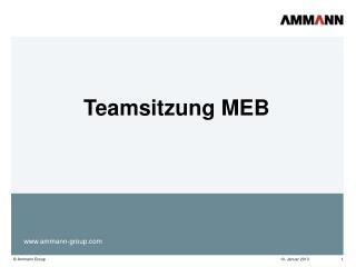 Teamsitzung MEB